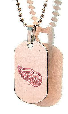 Detroit Red Wings NHL Dog Tag Necklace