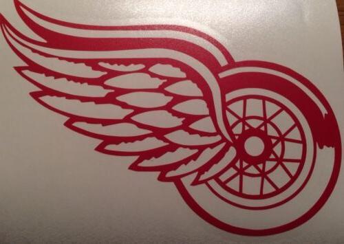 Detroit Red 2 Decals Red Vinyl FREE
