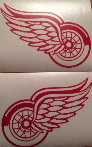 detroit red wings qty 2 decals 5