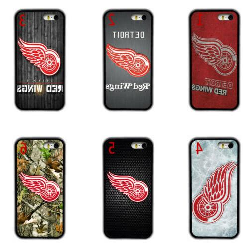 detroit red wings rubber phone case cover