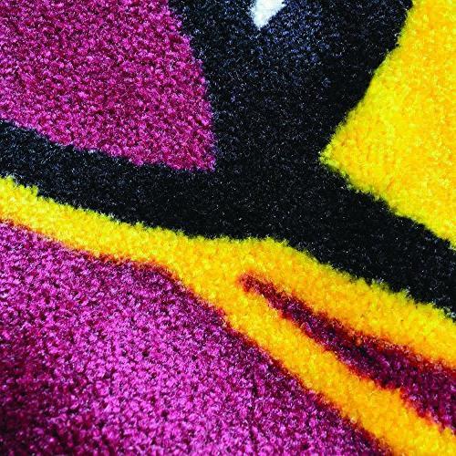 FANMATS Wings Nylon Face Plush Rug