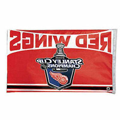 detroit red wings stanley cup champions flag