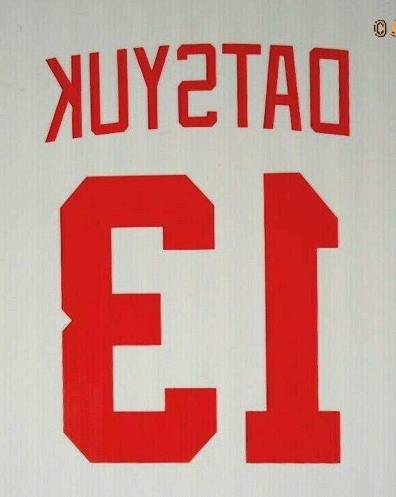 Detroit Red STICKER DECAL Larionov Zetterberg Hasek