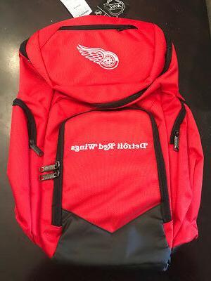 detroit red wings traveler backpack red 20