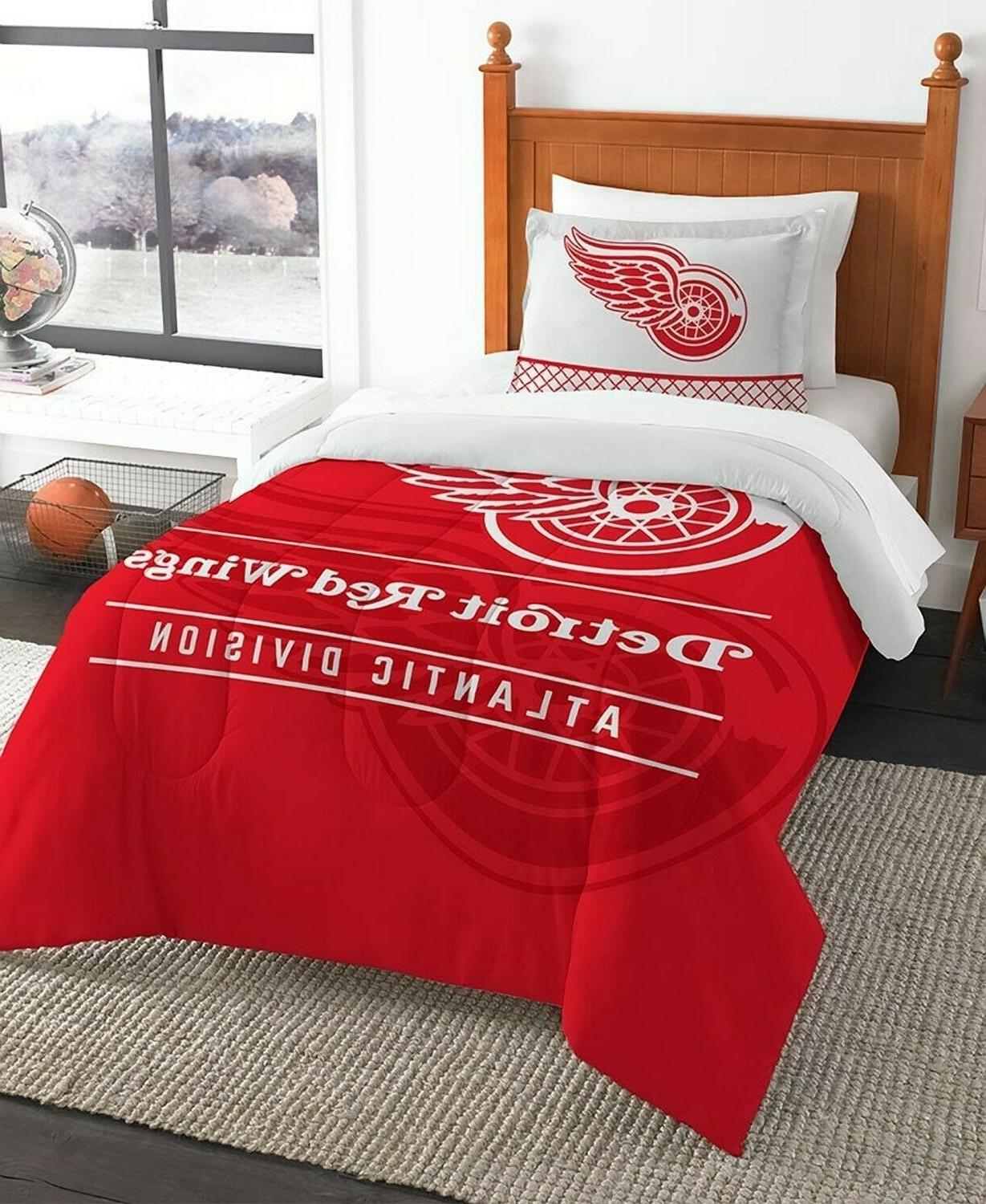 detroit red wings twin nhl hockey comforter