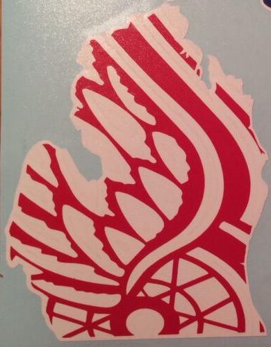"""Detroit Wings Vinyl Decal 6""""x7.75"""" **FREE"""