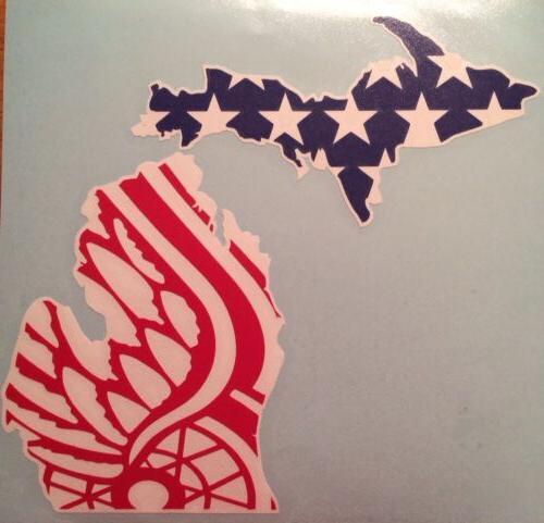 detroit red wings vinyl decal 6 x7