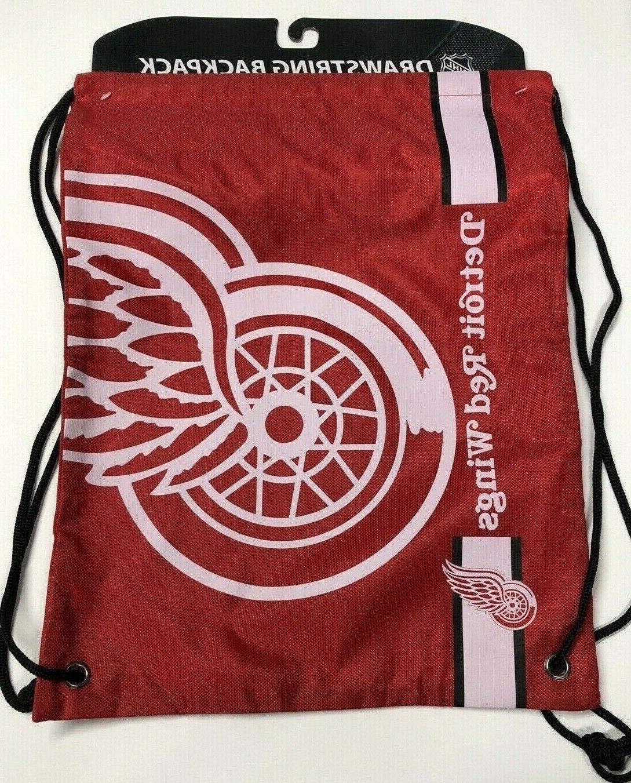 detroit redwings drawstring backpack nhl big logo