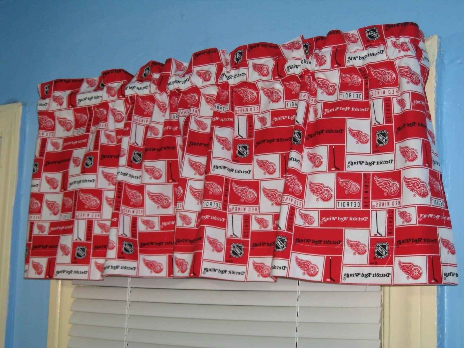 Handmade Red Red Window Curtain Valance