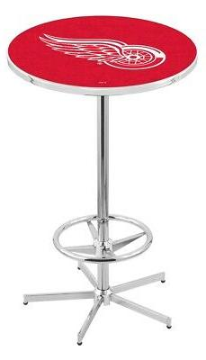 """Holland Bar Stool Co. L216 - 42"""" Chrome Detroit Red Wings Pu"""