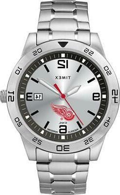 Men's Detroit Red Wings Watch Timex Citation Steel Watch
