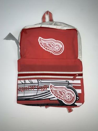 new vintage detroit red wings backpack nhl