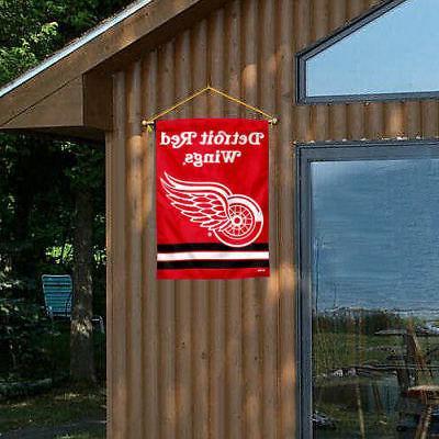 NHL Detroit Red House Flag
