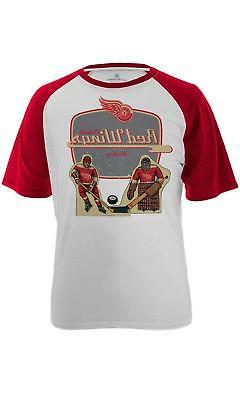 NHL Detroit Red Wings Men's Table Top Tee, Small, White/Soli