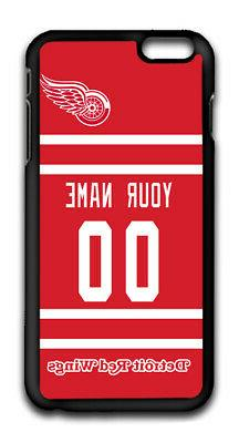 NHL Detroit Red Wings Personalized Name/Number iPhone iPod C