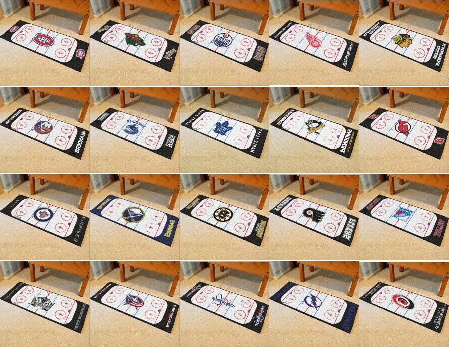 nhl runner mat area rug choose your