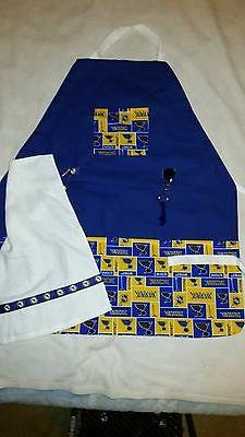 Handmade Sports Apron made with NHL fabric on sturdy canvas