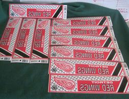 Lot Of 10 Vintage Wincraft Detroit Red Wings Bumper Stickers