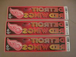 Lot Of  Vintage Detroit Red Wings 1990's Wincraft Bumper Sti