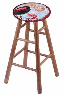 maple vanity stool in medium finish
