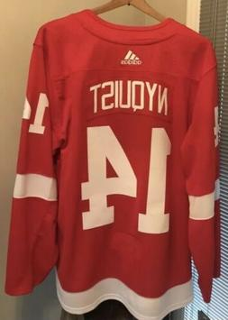 Men's Adidas Gustav Nyquist Detroit Red Wings Authentic NHL