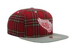 Mitchell & Ness Men Unisex Hat Cap Black NHL Detroit Red Win
