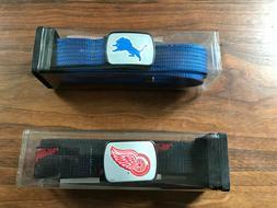 NHL Belt Detroit Red Wings Size 22 to 28 / NFL Belt Lions si