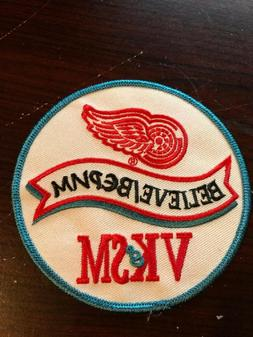 NHL Detroit Red Wings Believe VK & SM Jersey Patch