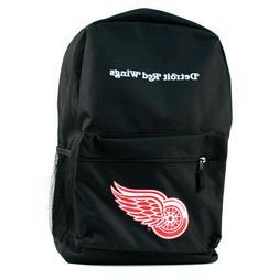 NHL Detroit Red Wings Black Backpack