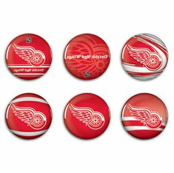 NHL DETROIT RED WINGS BUTTONS 6-PACK NEW