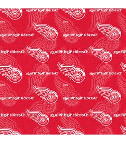 NHL Detroit Red Wings Cotton Fabric Tone Logo For Face Mask