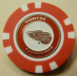 NHL Detroit Red Wings Magnetic Poker Chip removable Golf Bal