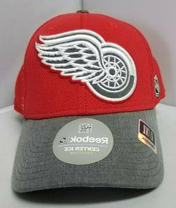 NHL Reebok Detroit Red Wings Men's Red/ Gray Color Hat Size