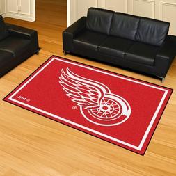 FANMATS NHL Detroit Red Wings Nylon Face 5X8 Plush Rug