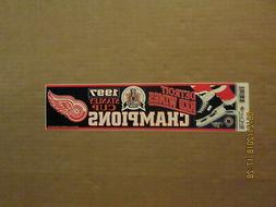 NHL Detroit Red Wings Vintage 1997 Stanley Cup Champions Hoc