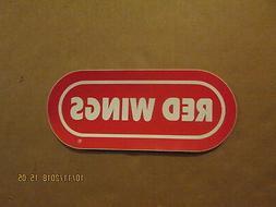 NHL Detroit Red Wings Vintage Circa 1970's Team Logo Oval Bu
