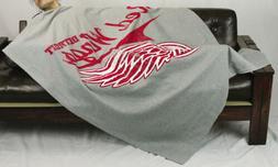 Northwest NHL Hockey Detroit Red Wings Sweatshirt Throw Blan