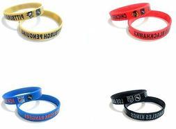 NHL Hockey Team Rubber Silicone Bracelet Sport Club Fashion