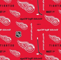 NHL Ice Hockey Detroit Red Wings Allover Prints 100% Cotton