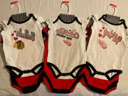 NHL Infant girl 3-piece creeper set, Detroit Red Wings, Chic