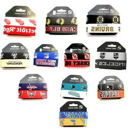 NHL rubber wrist band fan bracelet silcone 2 pack PICK your