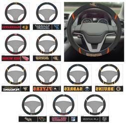 nhl steering wheel cover hockey team logo