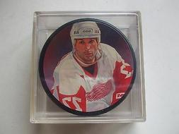 PAUL COFFEY LITHOGRAPH PUCK DETROIT RED WINGS 1996 L@@K!