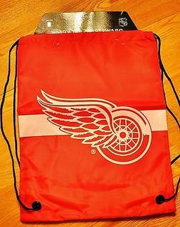 RED WINGS Drawstring Back Pack Back Sack BackPack NEW NHL DE