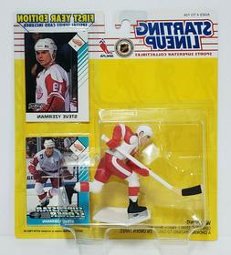 STEVE YZERMAN Detroit Red Wings Starting Lineup SLU NHL 1993