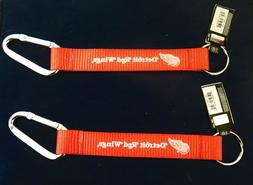 TWO  BEAUTIFUL AND HANDY, DETROIT RED WINGS  CARABINER KEYCH