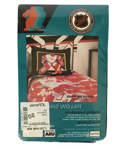 "Vintage Detroit Red Wings NHL Pillow Sham 20"" x 26"" Goalie D"