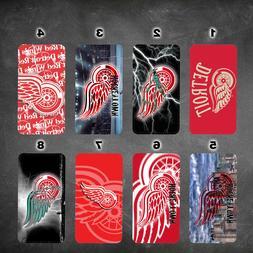 wallet case Detroit Red Wings galaxy S7 S8 S8plus S9 S9+ S10